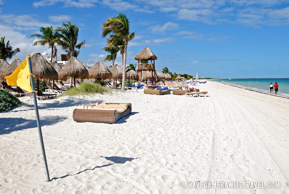 Beachfront at Excellence Playa Mujeres Resort at Playa Mujeres, north of Cancun, Quintana Roo, Mexico