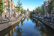 Amsterdam, Netherlands view of a canal