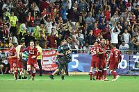 KIEV, UKRAINE - MAY 26: Sadio Mane of Liverpool celebrates scoring a goal during the UEFA Champions League final between Real Madrid and Liverpool at NSC Olimpiyskiy Stadium on May 26, 2018 in Kiev, Ukraine. (MB Media)