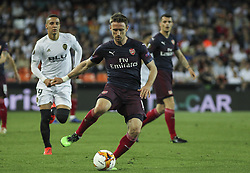 May 9, 2019 - Valencia, Valencia, Spain - Nacho Monreal of Arsenal in action during UEFA Europa League football match, between Valencia and Arsenal, May 09th, in Mestalla stadium in Valencia, Spain. (Credit Image: © AFP7 via ZUMA Wire)