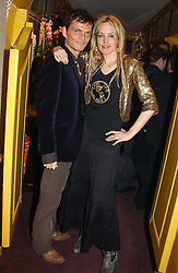 MATTHEW WILLIAMSON and BAY GARNETT at a private dinner and presentation of Issa's Autumn-Winter 2005-2006 collection held at Annabel's, 44 Berkeley Square, London on 15th March 2005.<br /><br />NON EXCLUSIVE - WORLD RIGHTS