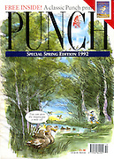 """You can spot the Americans a mile off"" (Punch front cover, 4 April 1992)"