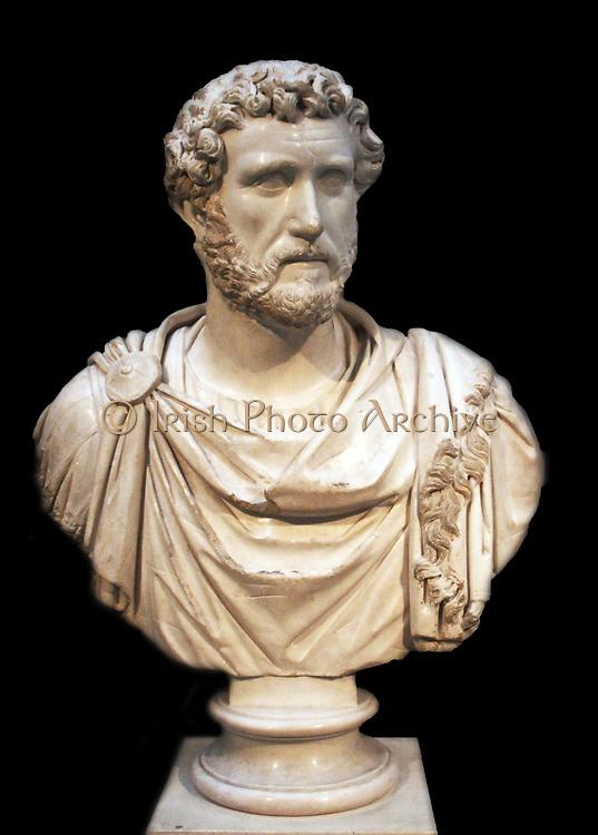 Marble bust of the Emperor Antoninus Pius