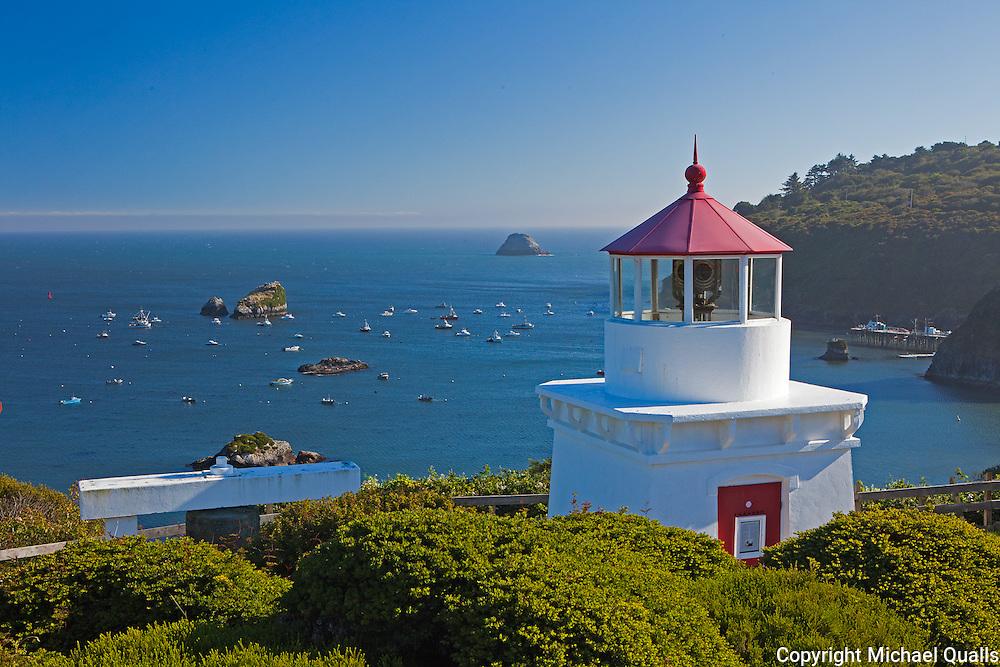 Trinidad Memorial Lighthouse, Trinidad Bay.  Trinidad, California.  USA.