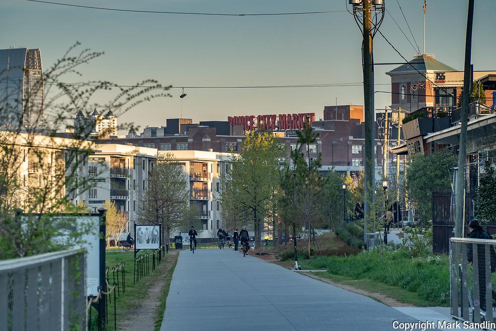 Atlanta Beltline Eastside near Ponce City Market