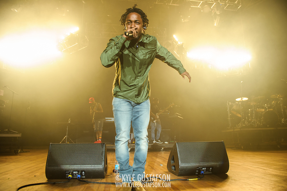 COLUMBIA, MD - May 30, 2015 - Kendrick Lamar performs at the 2015 Sweetlife Festival at Merriweather Post Pavilion in Columbia, MD. Lamar's sophomore album, released in March, debuted atop the U.S. Billboard 200 album chart. (Photo by Kyle Gustafson / For The Washington Post)