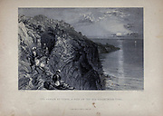 The Ladder of Tyrus A pass on the Sea Coast, near Tyre Lebanon. from Volume 2 of Syria, the Holy Land, Asia Minor, &c. by Carne, John, 1789-1844; Illustrated by Bartlett, W. H. (William Henry), 1809-1854, and Allom, Thomas, 1804-1872 Published in London in 1837