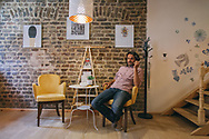 Samer al Kadri, the owner of Pages bookshop, a rare establishment where customers can find a range of Arabic, Turkish, French and English language books.