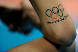 23-08-2009 VOLLEYBAL: WGP FINALS JAPAN - BRAZILIE: TOKYO <br /> Brazilie wint met 3-1 van Japan en zijn de winnaar van de Grand Prix 2009 / Marianne Steinbrecher met haar tattoo OS Beijing 2008<br /> ©2009-WWW.FOTOHOOGENDOORN.NL