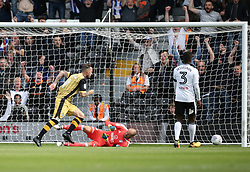 Sheffield Wednesday's Steven Fletcher scores his side's first goal of the game