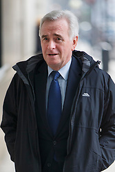 © Licensed to London News Pictures. 03/04/2016. London, UK. Shadow Chancellor JOHN MCDONNELL arriving at BBC Broadcasting House in London to appear on The Andrew Marr show on BBC One on Sunday, 3 April 2016. Photo credit: Tolga Akmen/LNP