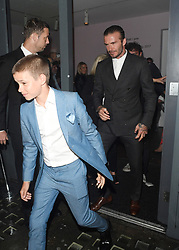 Brooklyn Beckham and Family Leave Christie's Gallery in London after his book launch. <br /><br />28 June 2017.<br /><br />Please byline: Craig/WillVantagenews.com