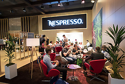 Cafe at Nespresso stand at 2016  IFA (Internationale Funkausstellung Berlin), Berlin, Germany