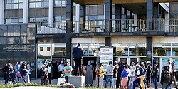 South Africa - Durban -  08 July 2020 -   Workers at the Durban Magistrate's Court have down tools and are protesting claiming that management is not following COVID-19 protocols. Admin staff and interpreters gathered outside the court , claiming that they have been kept in the dark about the number of cases in the court. Picture Leon Lestrade/African News Agency(ANA).