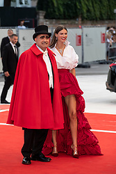 Elio, Bianca Balti walks the red carpet ahead of The Sisters Brothers screening during the 75th Venice Film Festival at Sala Grande on September 2, 2018 in Venice, Italy. Photo by Marco Piovanotto/ABACAPRESS.COM