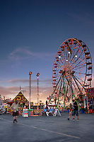 Ferris Wheel and Carnival Games at Sunset, Los Angeles County Fair, Pomona, California