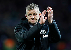 Manchester United caretaker manager Ole Gunnar Solskjaer after defeat during the UEFA Champions League round of 16, first leg match at Old Trafford, Manchester.
