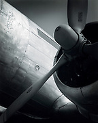 Prop and cowling of a DC-3, at the Griffin, Georgia airfield.  Summer 2001.