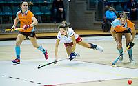 ROTTERDAM - Zaalhockey competitie hoofdklasse . MOP-GRONINGEN.  Rosalie de Beer. COPYRIGHT KOEN SUYK