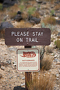 Beware of Snakes Sign, Petroglyph National Park, New Mexico