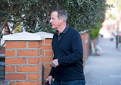 © Licensed to London News Pictures. 22/04/2021. London, UK. Former British Prime Minister DAVID CAMERON is seen outside his London home. Cameron has come under scrutiny following reports he lobbied Ministers for the now collapsed finance firm Greensill Capital. Photo credit: Ben Cawthra/LNP
