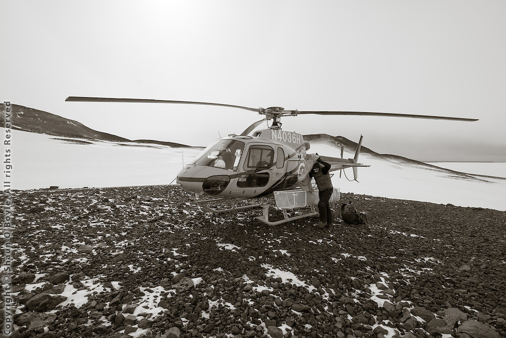 Helo landing site about a half kilometer from Wilson's Igloo