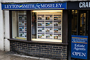 Estate agent Leyton-Smith & Moseley is pictured during the second coronavirus lockdown on 9th November 2020 in Windsor, United Kingdom. The Housing Secretary Robert Jenrick has advised that the property market may continue to operate during the lockdown provided that safety guidance intended to prevent the spread of COVID-19 is followed.