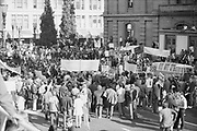 """1308-2-20. Portland Peace Action Coalitions """"March Against The War"""" demonstration against the Vietnam war in Downtown Portland. October 31, 1970"""