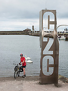 Start of the C2C cycle route, Whitehaven