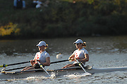Boston, USA, Championship Women's double, CAN W2X  Peggy HYSLOP and Kristen McCARTY , approach  the  John Weekes Bridge, during  the Head of the Charles, Race Charles River,  Cambridge,  Massachusetts. Saturday  20/10/2007 [Mandatory Credit Peter Spurrier/Intersport Images]..... , Rowing Course; Charles River. Boston. USA