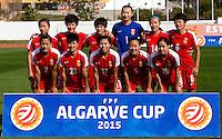 Fifa Womans World Cup Canada 2015 - Preview //<br /> Algarve Cup 2015 Tournament ( Municipal Stadium - Albufeira , Portugal ) - <br /> Brazil vs China 0-0  -  China Team , from the left up :<br /> Yang Li ,Zhang Rui ,Wang Shanshan ,Zhang Yue ,Zhao Rong ,Li Dongna //<br /> Liu Shanshan ,Ren Guixin ,Gu Yasha ,Wu Haiyan ,Tan Ruyin