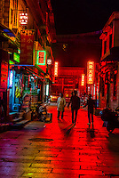 The back streets of Old Lhasa, Tibet (Xizang, China).