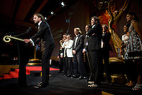 """Willem Brom and the crew of """"The Phone"""", recipients of the Non-Scripted Entertainment award at the 2009 International Emmy Awards Gala hosted by the International Academy of Television Arts & Sciences in New York.  ***EXCLUSIVE***"""