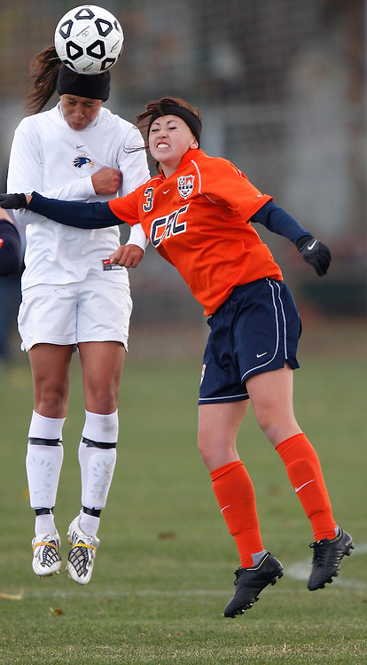 Santiago Canyon defeated Cosumnes River College in the California Community College Athletic Association womens soccer state championship game on Sunday, Dec. 6, 2009 in Sacramento, California.