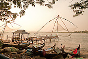 Mediaeval fishing nets in Fort Cochin, India