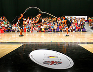 Loughborough, England - Saturday 31 July 2010: The South African team take part in the Double Dutch event during the World Rope Skipping Championships held at Loughborough University, England. The championships run over 7 days and comprise junior categories for 12-14 year olds in the World Youth Tournament, 15-17 year olds male and female championships, and any age open championships. In the team competitions, 6 events are judged, the Single Rope Speed, Double Dutch Speed Relay, Single Rope Pair Freestyle, Single Rope Team Freestyle, Double Dutch Single Freestyle and Double Dutch Pair Freestyle. For more information check www.rs2010.org. Picture by Andrew Tobin/Picture It Now.