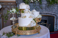 File photo dated 19/05/18 of the wedding cake by Claire Ptak of London-based bakery Violet Cakes in Windsor Castle for the wedding of the the Duke and Duchess of Sussex, who are preparing for the christening of their son Archie, which will take place on Saturday.