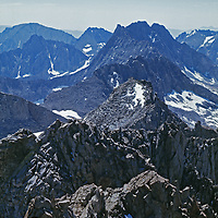 Middle Palisade and the Palisade Crest, along Sierra Nevada spine.