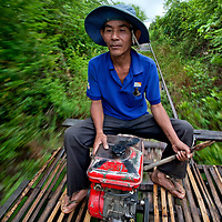 The first bamboo trains, also called nori, appeared in the 1970's. The first improvised vehicles were constructed by villagers and had no engines: they were <br /> propelled with a bamboo pole. Nowadays the norry is only operated in the Battambang region.