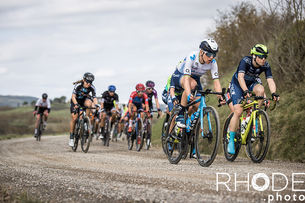 Annemiek Van Vleuten (NED/Movistar)<br /> <br /> 7th Strade Bianche Women Elite <br /> Siena > Siena 136km<br /> <br /> ©RhodePhoto