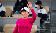 Simona Halep of Romania after winning her first round match at the first round of the Roland Garros 2020, Grand Slam tennis tournament, on September 27, 2020 at Roland Garros stadium in Paris, France - Photo Rob Prange / Spain ProSportsImages / DPPI / ProSportsImages / DPPI