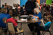 DURANT, OKLAHOMA - MARCH 24:  Mary Hall visits with kids at the Boys and Girls Club in Durant, Oklahoma on March 24, 2017. (Photo by Cooper Neill for The Washington Post)