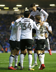 Derby County's Matej Vydra (bottom right) celebrates scoring his side's second goal of the game