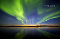 Aurora Borealis, Ennadai Lake, Nunavut, Canada