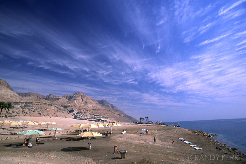 Beach park at the Dead Sea