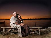 Bedeliah and Wayne's riverside portrait.