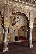 The Karan Mahal a Public Audience Hall palace in Junagarh Fort, Bikaner, Rajasthan, India
