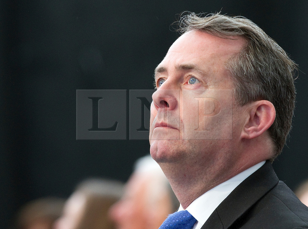 """© under license to London News Pictures. 06/03/2011: Dr Liam Fox in the audience at the Conservative Spring Forum in Cardiff.. Credit should read """"Joel Goodman/London News Pictures""""."""