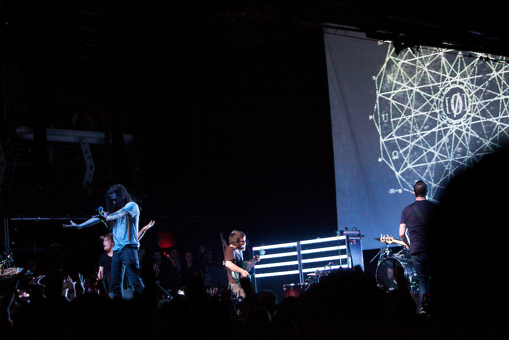 Underoath performs at Terminal 5 in Manhattan, Thursday, February 17, 2011.