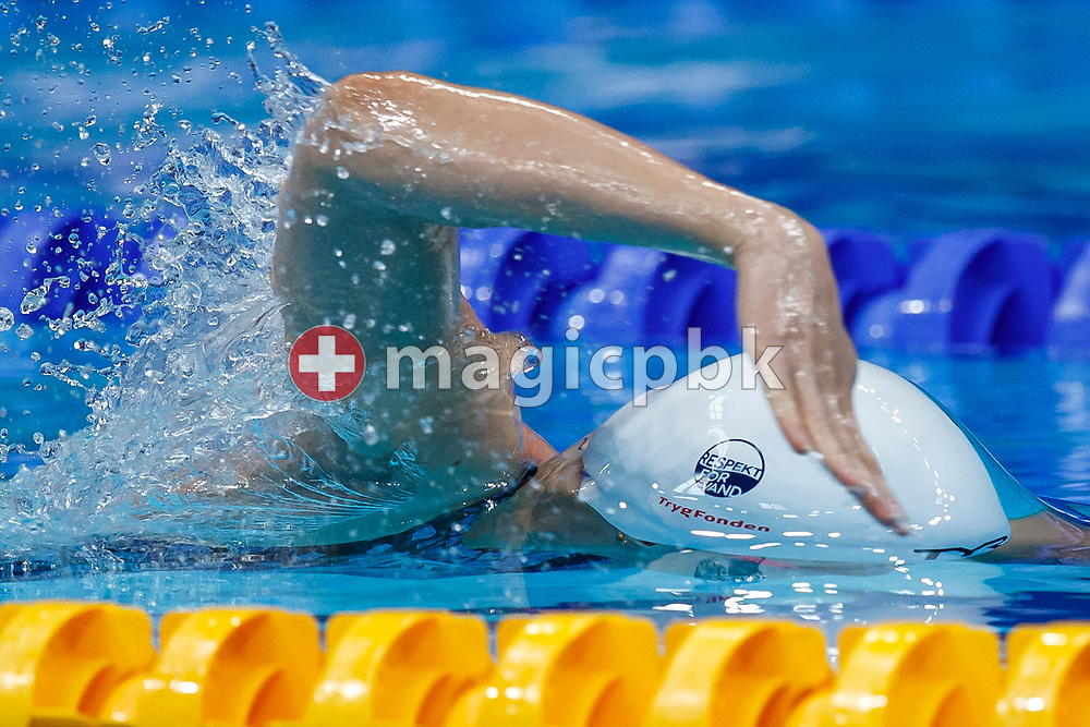 Signe Bro of Denmark competes in the women's 100m Freestyle Heats during the swimming events of the LEN European Aquatics Championships in Budapest, Hungary, Friday, May 21, 2021. (Photo by Patrick B. Kraemer / MAGICPBK)